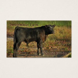 Bull ou cartão de visita do padrão da fazenda de