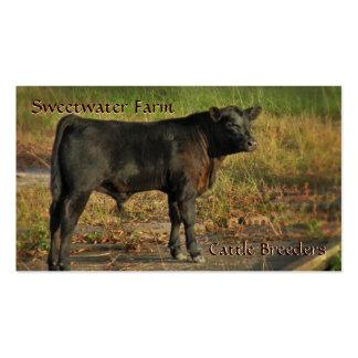 Bull ou cartão de visita do padrão da fazenda de g