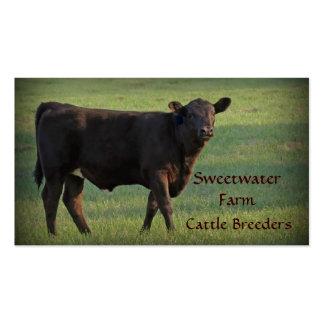 Bull ou cartão de visita padrão 2 da fazenda de ga