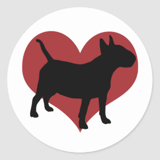 Bull terrier adesivos redondos