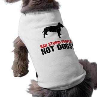 Bull terrier camisa sem mangas para cachorro