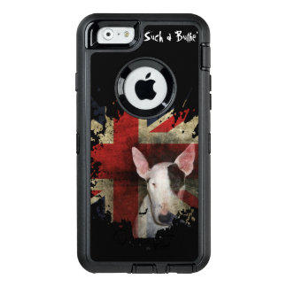 Bull terrier preto Union Jack