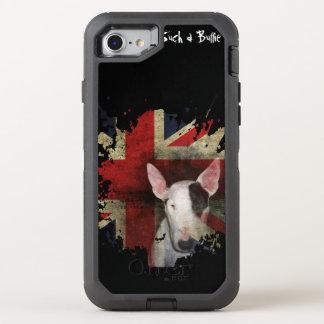 Bull terrier preto Union Jack Capa Para iPhone 7 OtterBox Defender