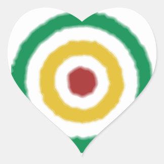 Bullseye de Rasta Adesivos De Corações