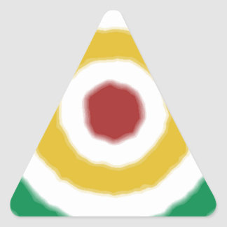 Bullseye de Rasta Adesivos Triângulo