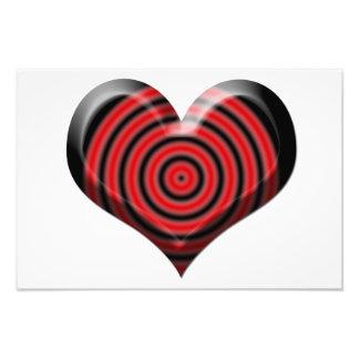 Bullseye do coração impressão fotográficas