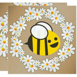 Bumble a abelha em uma festa de aniversário da convite quadrado 13.35 x 13.35cm