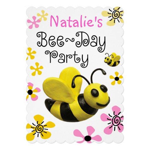 Bumble a festa de aniversário da abelha convite