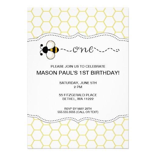 Bumble a primeira festa de aniversário da abelha c convites