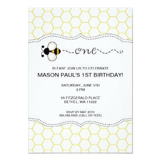 Bumble a primeira festa de aniversário da abelha convite 12.7 x 17.78cm