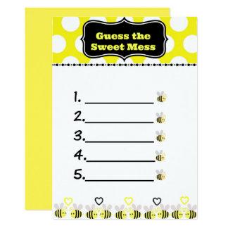 Bumble a suposição da abelha o cartão doce da