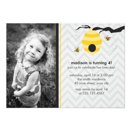Bumble convites de festas de aniversários da abelh