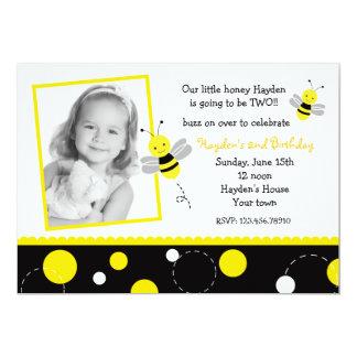 Bumble convites de festas de aniversários da foto convite 12.7 x 17.78cm