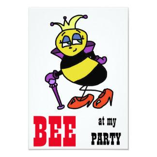 Bumble convites de festas dos desenhos animados da