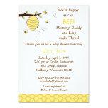 Bumble convites do chá de fraldas do favo de mel