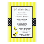 Bumble convites listrados abelha do chá de fraldas