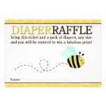 Bumble o cartão do Raffle da fralda do chá da abel Convite Personalizado