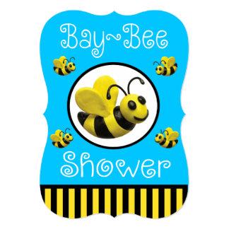 Bumble o chá de fraldas da abelha convite 12.7 x 17.78cm