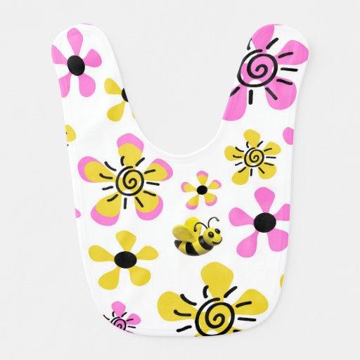 Bumble o chá do bebé da abelha babadores para bebes