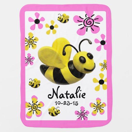 Bumble o chá do bebé da abelha mantas para bebe