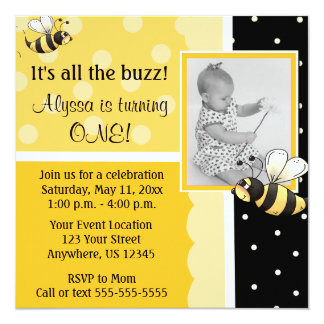 Bumble o convite do aniversário da abelha