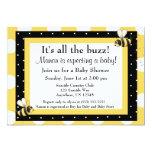 Bumble o convite do chá de fraldas da abelha