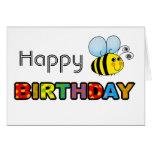 Bumble o feliz aniversario da abelha cartoes