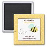 Bumble o ímã quadrado do favor da abelha imãs de geladeira