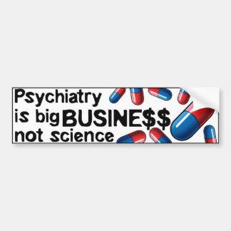 Bumperstick da ciência do grande negócio do psiqui adesivo para carro