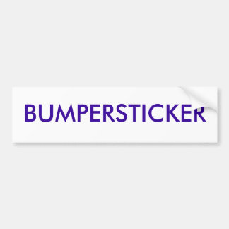 BUMPERSTICKER ADESIVO PARA CARRO