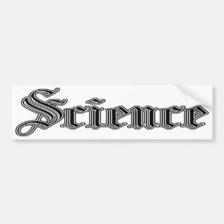 bumpersticker da ciência adesivo para carro