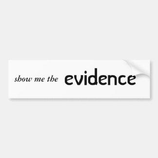 bumpersticker da evidência adesivos