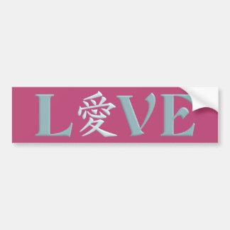 Bumpersticker do amor do Kanji Adesivo Para Carro