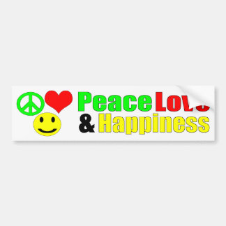 bumpersticker do amor e da felicidade da paz adesivo para carro