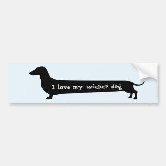 Bumpersticker do cão do Wiener Adesivo Para Carro