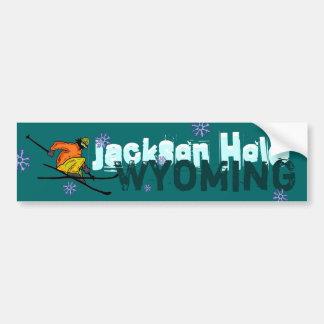 Bumpersticker do esqui de Jackson Hole Wyoming Adesivo Para Carro