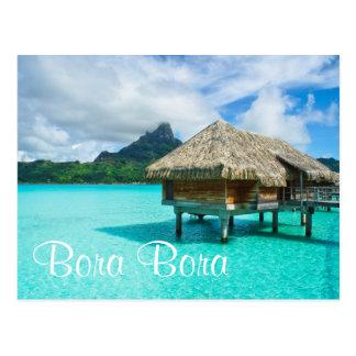 bungalow da Sobre-água, cartão do texto de Bora
