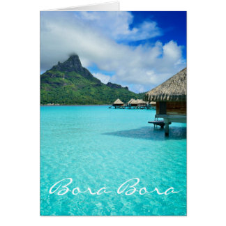 Bungalows de Overwater, cartão de Bora Bora