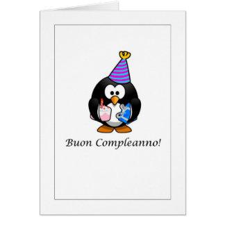 Buon Compleanno - feliz aniversario no cartão