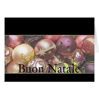 Buon Natale - cartão de Natal italiano