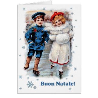 Buon Natale. Cartão de Natal italiano