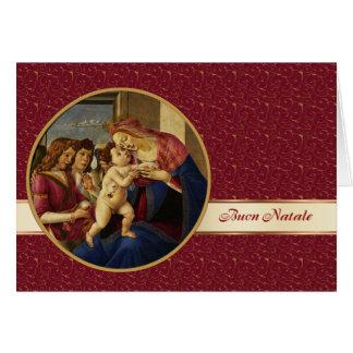 Buon Natale. Cartão de Natal italiano das belas