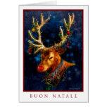 Buon Natale - cartão italiano do Feliz Natal