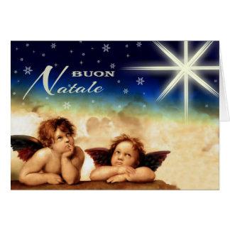 Buon Natale. Cartões de Natal italianos das belas