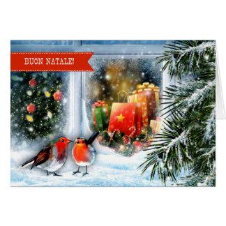 Buon Natale. Cartões italianos do Natal