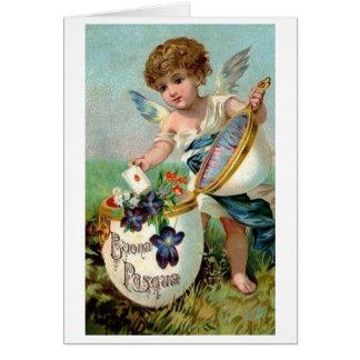 Buona Pasqua! Cartão de páscoa italiano do