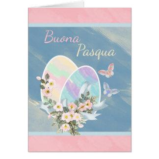 - Buona Pasqua - ovos da páscoa italianos do Cartão Comemorativo