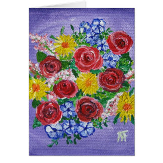Buquê colorido - cartão