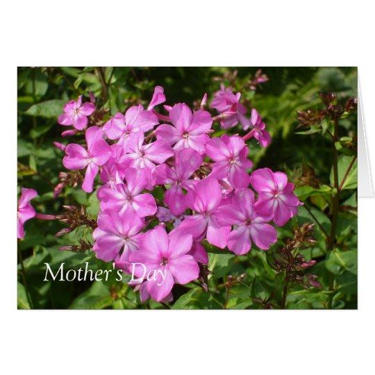 Buquê cor-de-rosa bonito da flor cartão comemorativo