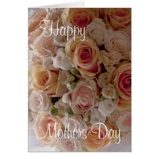 Buquê cor-de-rosa do cartão bonito do dia das mães
